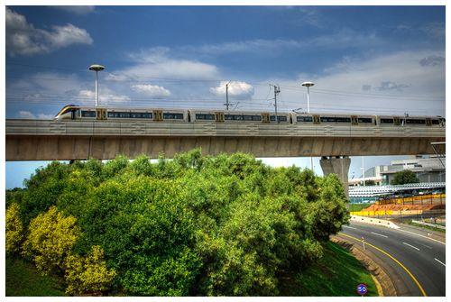 Train at airport web
